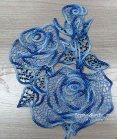 Crochet lace collar pattern free knitting ideas for 2019 Crochet Motifs, Freeform Crochet, Crochet Art, Irish Crochet, Crochet Stitches, Crochet Style, Crochet Puff Flower, Crochet Flower Patterns, Crochet Flowers