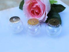 2PCS  25/30MM Glass Globe Necklace Pendant ,Empty Globe Cases,glass Display Case,glass globe necklace bottle,Glass Bottle Necklace Pendant