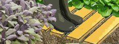 Fabrication d'une allée de jardin en bois de palette :