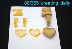 """Project """"365 - creating daily"""" day 86:  Z-!-<3 stamps Anke Humpert 3/2014  #365creatingdaily"""