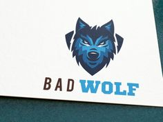 Creative logo design by BAD WOLF - www. Web Design, Logo Design, Bad Wolf, Creative Logo, Batman, Superhero, Logos, Fictional Characters, Art