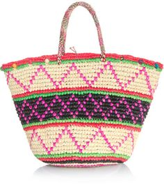 Love this: Maxi Tribal Woven Straw Bag @Lyst