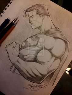 superman pencil comission by Sajad126@deviantart.com