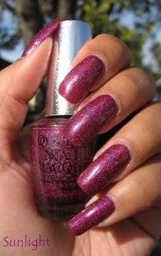 OPI DS Extravagance- prismatic bits with a deep, rich color: I keep my outfit subdued when wearing this, plus a large deep brown satchel