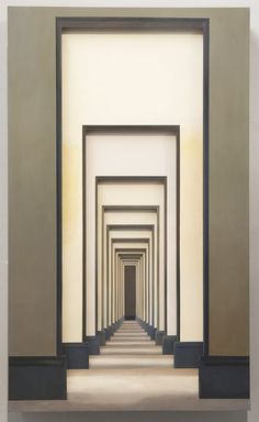 From ShanghART, Yang Zhenzhong, Passage No 8 Installation, 200 × 120 × 34 cm - architecture Architecture Details, Interior Architecture, Hotel Corridor, Corridor Lighting, Illusions, Entrance, House Design, Decoration, Rhythm In Design
