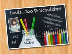Einladungskarten Einschulung Schulanfang MUSTER 53   Bild Vergrößern