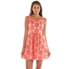 LC Lauren Conrad Floral Lace Fit & Flare Dress - Women's
