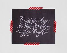 Print by Oh My Deer | http://www.etsy.com/listing/115546600/christmas-print-8x10-days-merry-nights  #print #ohmydeer #handmade