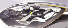 BMW i6 Concept - Interior Design Sketch