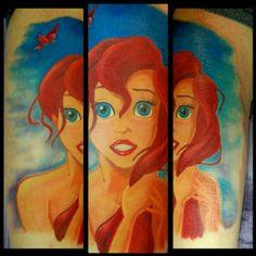 Disney's little mermaid Arial tattoo