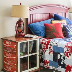 DIY Nightstands Made From Old Coke Crates