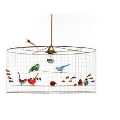 Mathieu Challières Medium Hanging Birdcage Multicoloured