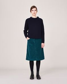 Women's Berry Cord A Line Skirt | Toast | I'd wear this outfit