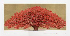 Hajime Namiki Japanese Woodblock Prints Tree Scenes
