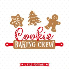 Christmas SVG cut file, Cookie Baking Crew SVG file, Christmas Apron Iron on file, Christmas Cookie SVG, GIngerbread Cookie svg cut file by queenSVGbee on Etsy