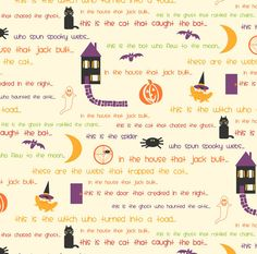 Halloween Story Fabric The House that by NeedleinaFabricStash