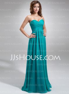 Empire Sweetheart Floor-Length Chiffon Bridesmaid Dress With Ruffle (007016755) Lots colors to choose from
