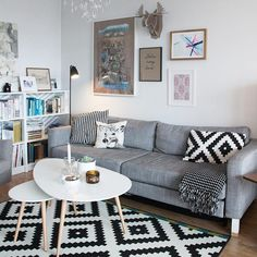 The Nexus looks perfect in this cosy Scandinavian inspired living room by by lightsyuk Condo Living Room, Modern House Design, Interior Design Living Room, Decoration, Style At Home, Room Decor, Ikea, House Styles, Furniture