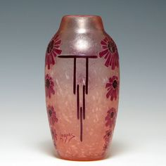 Legras Acid Cameo Glass Vase