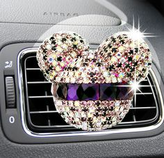 3,14 can Luxury car ornaments girl Exquisite diamond Mickey Air conditioning outlet perfume Car air refreshing agent