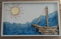 HAND MADE DRIFTWOOD ART BOAT: 600$+SHIPPING SEE MORE http://styleitchic.blogspot.gr/2014/08/blog-post.html