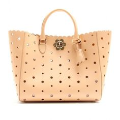 Mulberry Cut-Out Flower Leather Tote ($2,115) ❤ liked on Polyvore