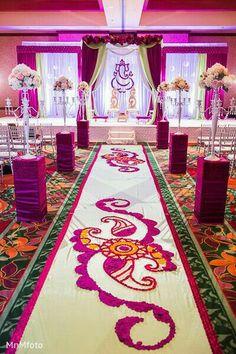 Indian wedding smriti jb planners wedding and weddings photo in 11 amazing aisle decor ideas junglespirit Image collections
