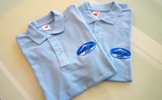 Waterfall Liffe, Polo Shirts with embroidery on chest #poloshirt #embroidery