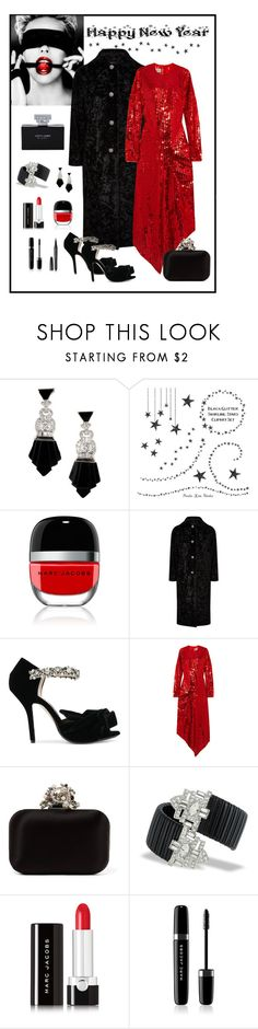 """Happy 2018 Polyfriends!"" by romaboots-1 ❤ liked on Polyvore featuring Marc Jacobs, Lanvin, N°21, Preen, Jimmy Choo and Kenneth Jay Lane"