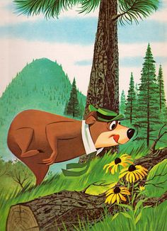 Yogi Bear - illustrated by Norman McGary & Hawley Pratt Cartoon Shows, Cartoon Art, Cartoon Characters, Illustrations Vintage, Illustration Art, Saturday Morning Cartoons, Hanna Barbera, Old Cartoons, Vintage Cartoon