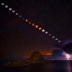 Wel Wel Wel….. Supermoon Total Lunar Eclipse and Lightning Storm