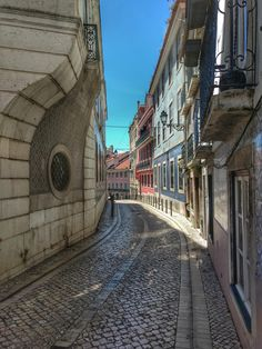 One of countless beautiful streets in Lisboa