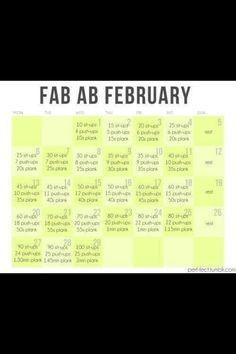Fab Abs challenge