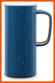 Ello Campy Vacuum-Insulated Stainless Steel Travel Mug, Avalon Sea, 18 oz - Kitchen gadgets (*Amazon Partner-Link)