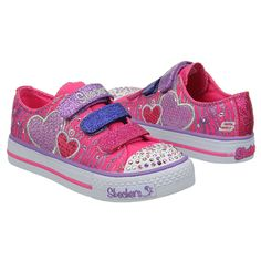 Skechers Triple Time Pre/Grd Shoes (Neon Pink/Purple) - Kids' Shoes - 12.5 M