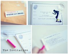 Invitation to a Super Sleuth Birthday Party...from one of my favorite bloggers!!