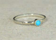 Classic Sterling Silver Turquoise Ring These Rings are Simple but substantial heirloom quality bands and bezels - Hammered Sterling Silver. Rustic, Understated Luxury. December's Mother's/Birthstone R