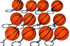 Novel Merk 12 Pack Orange Basketball Keychains for Kids Party Favors  School Carnival Prizes * Continue to the product at the image link.Note:It is affiliate link to Amazon.