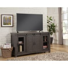 Ameriwood Home Ashlar 65 Inch Concrete Grey Tv Stand Tv Stand Grey