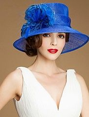 Women Feather/Flax Hats With Wedding/Party Head... – AUD $ 57.53