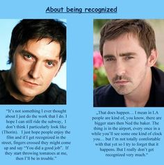 This is so strange, that it actually could be not true...I mean Richard Armitage and Lee Pace?!?! The two most gorgeous men alive....