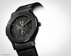 Here you have the two new watches designed by Shawn Carter and produced by Hublot.  These two watches – both limited editions – are Classic Fusion models and bear the Shawn Carter logo cut into the dial, revealing some of the movement's architecture.