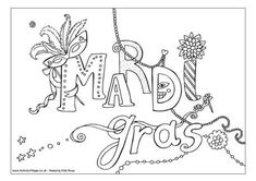 The Carnival Season Of Mardi Gras Coloring Pages | Kids Coloring ...