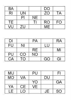 Con estos cinco bingos se podrá trabajar la lectura de sílabas directas. Para jugar con ello será necesario imprimirlo dos veces, una impr... Bingo, Literacy Activities, Stuff Stuff, Dyslexia, Autism, Reading, Occupational Therapy, Note Cards, School