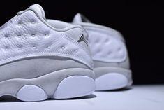 the latest 593b6 1ae28 AJ13 Nike Air Jordan 13 Low White Metallic Silver 310810-100 Basketball  Shoes mens Authentic