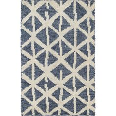 Dash and Albert Rugs Newport Hand-Knotted Blue Area Rug | Perigold