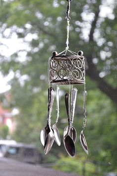 Wind Chimes Made from Recycled Spoons