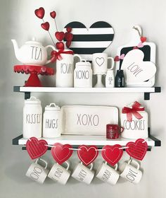 Valentine's Day coffee bar with Rae Dunn , Coffee Corner, Best Inspiration: Rae Dunn Display Ideas To Make Beautiful Decor day decorations cafe Coffee Bar Home, Coffee Corner, Coffee Bars, Coffee Gif, Coffee Nook, Coffee Shops, Coffee Lovers, Valentines Day Decorations, Valentine Crafts