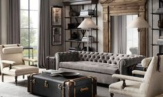 Living Rooms: Elegant and Rustic Grey Living room
