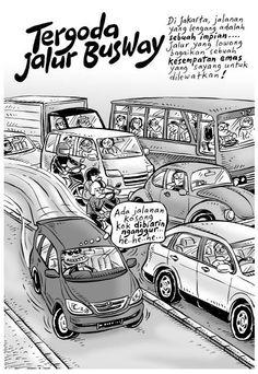 Kartun Benny, 100 Peristiwa: Tergoda Jalur Busway